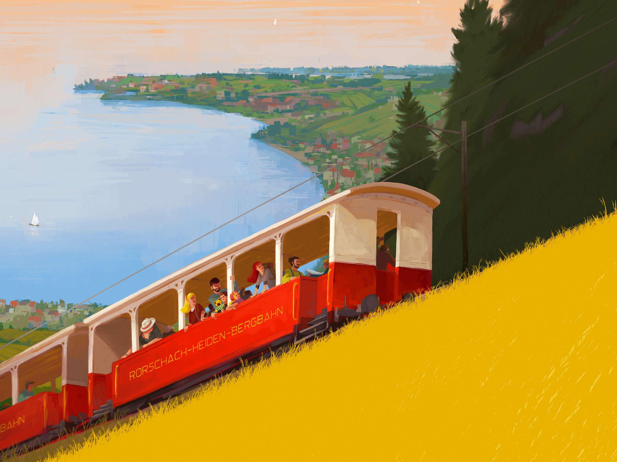 Bahnerlebnisse in der Region St.Gallen-Bodensee